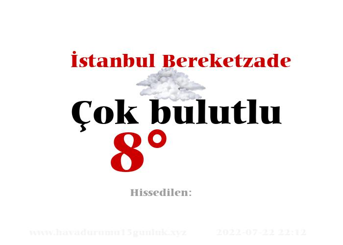 İstanbul Bereketzade Hava Durumu