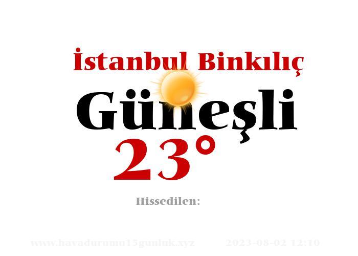 istanbul-binkilic hava durumu