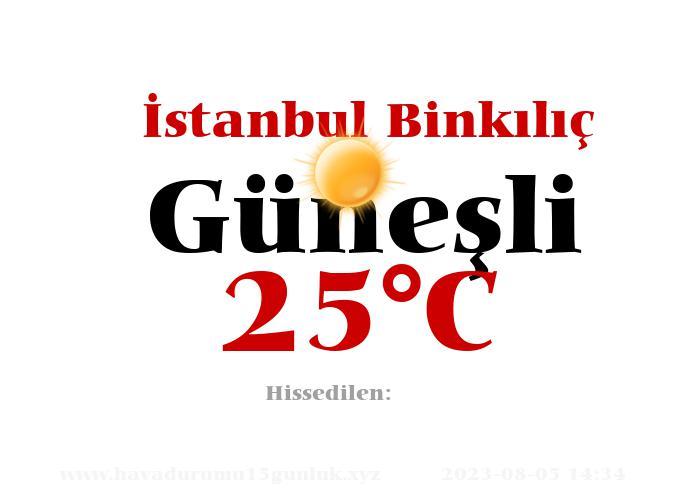 Hava Durumu İstanbul Binkılıç