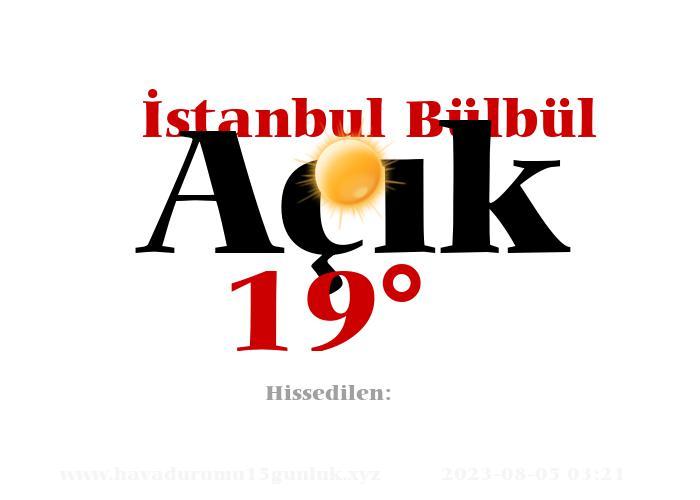 istanbul-bulbul hava durumu