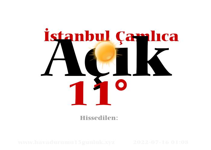 istanbul-camlica hava durumu