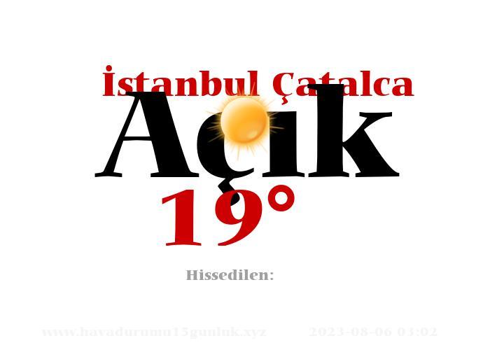 istanbul-catalca hava durumu