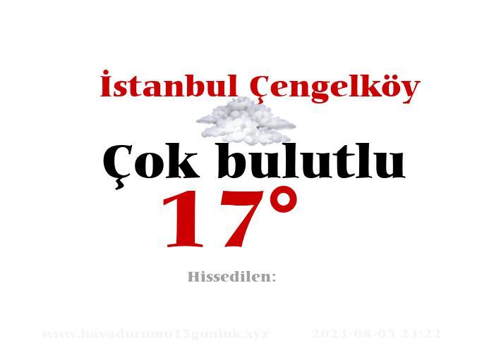 İstanbul Çengelköy Hava Durumu