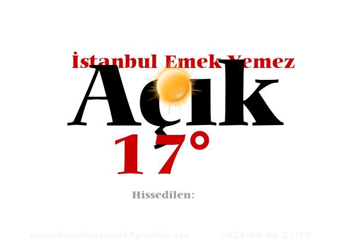 istanbul-emek-yemez hava durumu