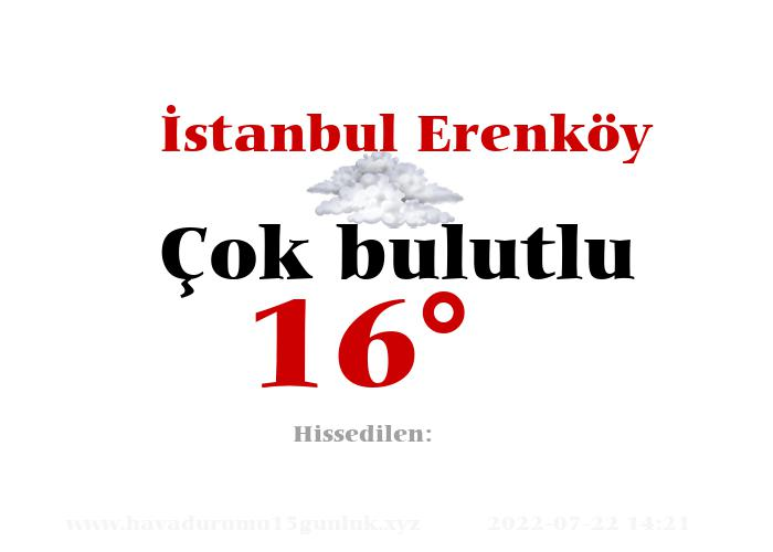 İstanbul Erenköy Hava Durumu