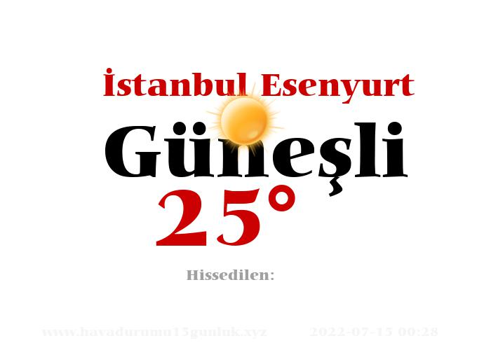 istanbul-esenyurt hava durumu