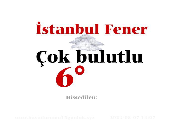 İstanbul Fener Hava Durumu