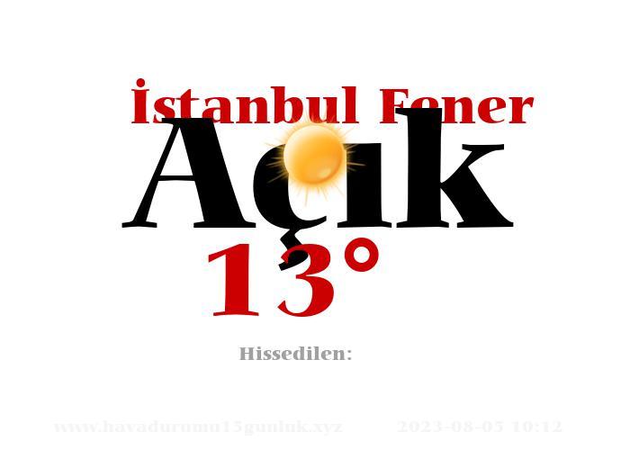 istanbul-fener hava durumu