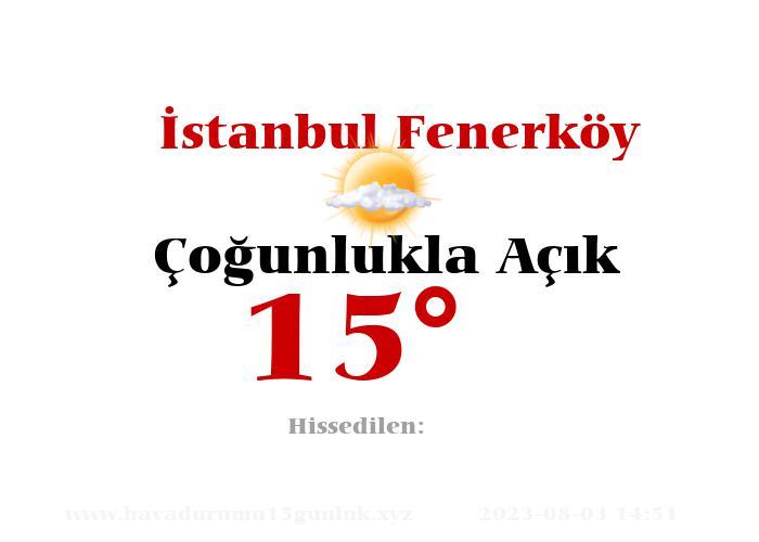 istanbul-fenerkoy hava durumu