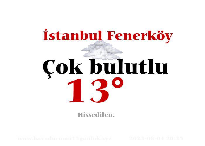 İstanbul Fenerköy Hava Durumu