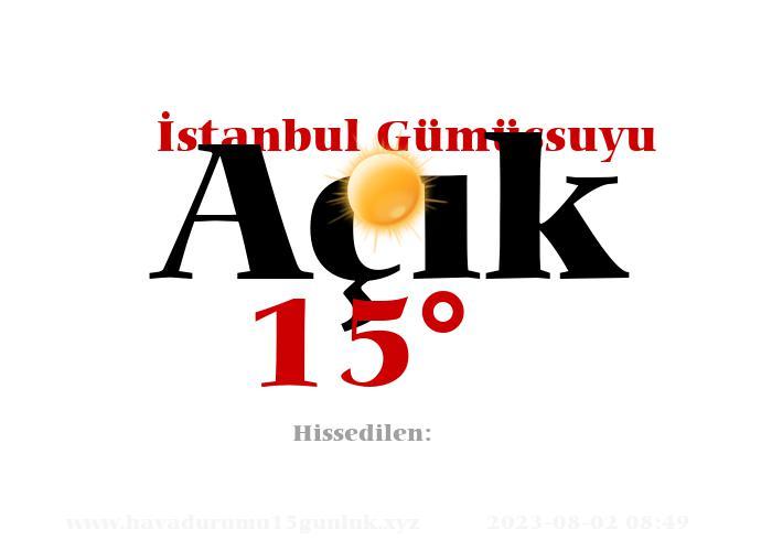 istanbul-gumussuyu hava durumu