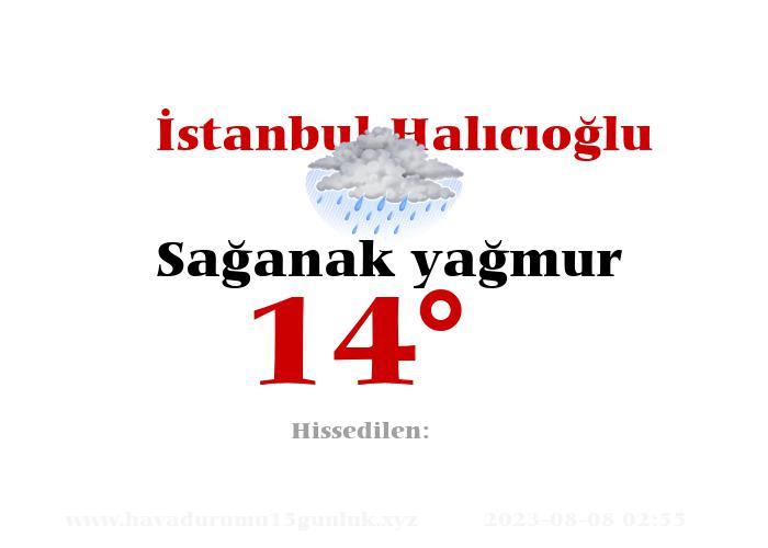 İstanbul Halıcıoğlu Hava Durumu