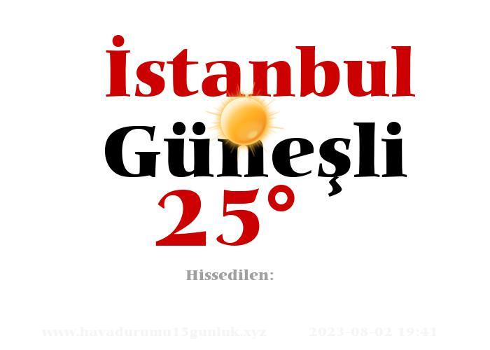 istanbul hava durumu