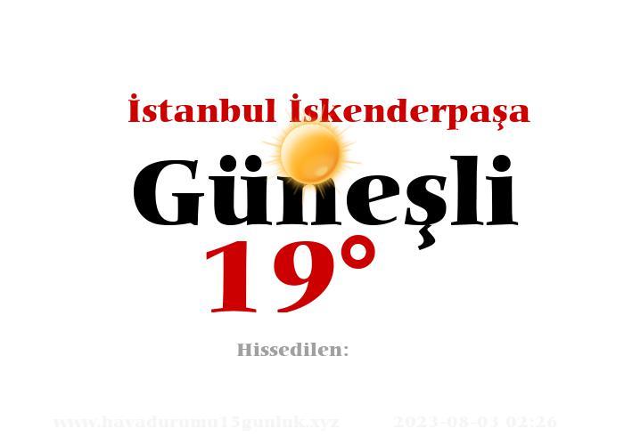 istanbul-iskenderpasa hava durumu