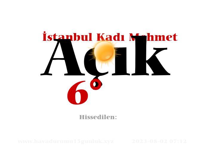 istanbul-kadi-mehmet hava durumu
