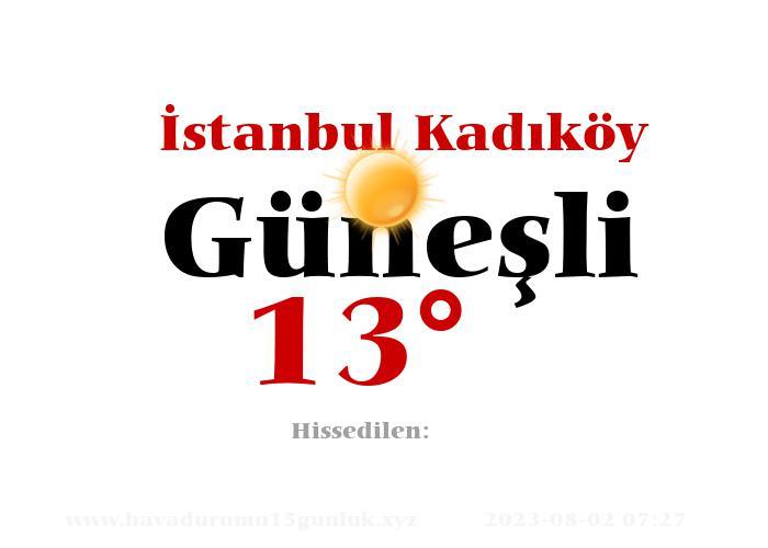 istanbul-kadikoy hava durumu