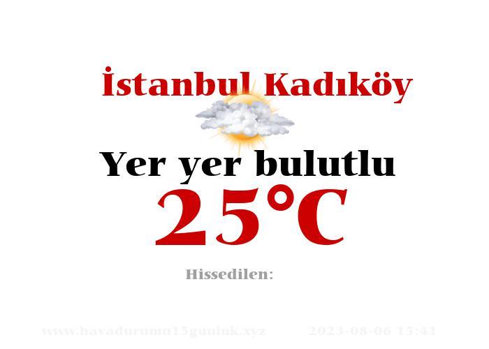 Hava Durumu İstanbul Kadıköy