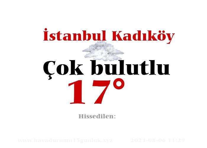 İstanbul Kadıköy Hava Durumu