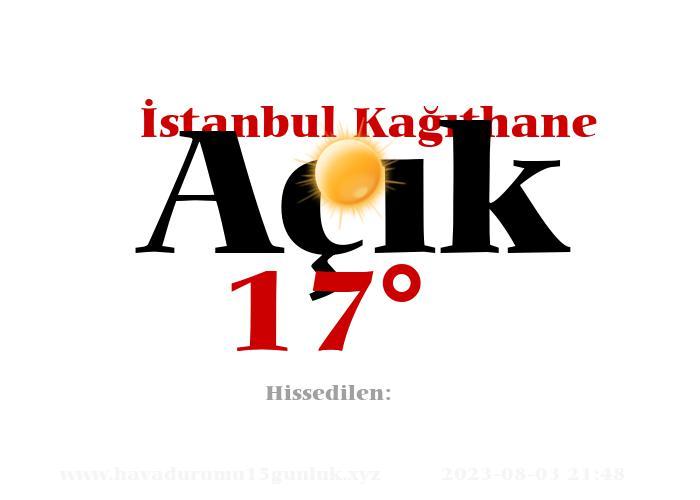 istanbul-kagithane hava durumu