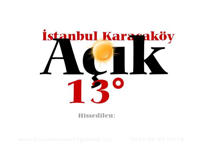 istanbul-karacakoy hava durumu