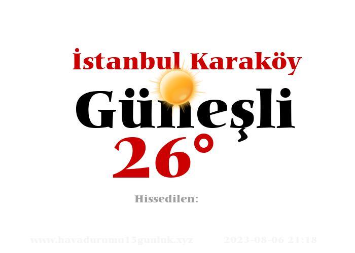 istanbul-karakoy hava durumu