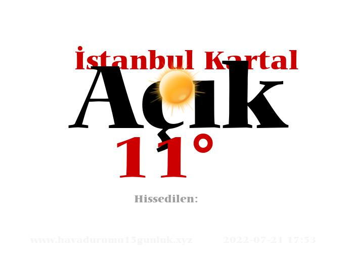 istanbul-kartal hava durumu