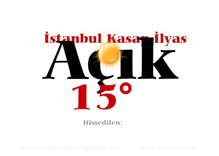 istanbul-kasap-ilyas hava durumu