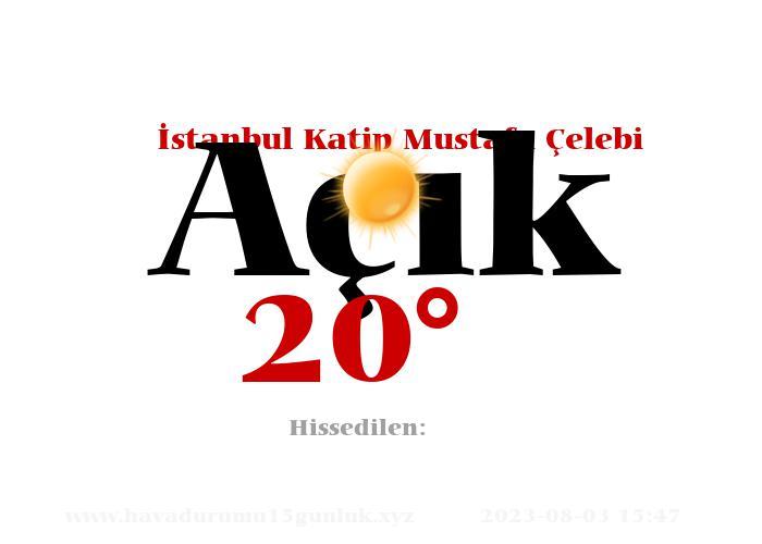 istanbul-katip-mustafa-celebi hava durumu