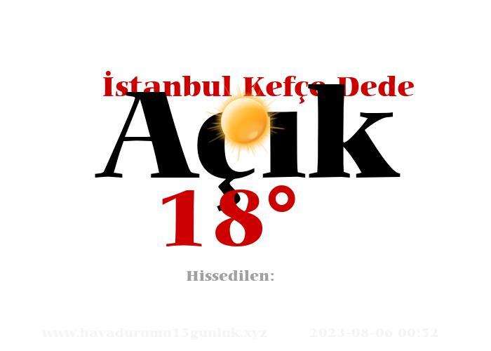 istanbul-kefce-dede hava durumu