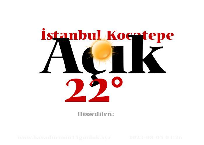 istanbul-kocatepe hava durumu