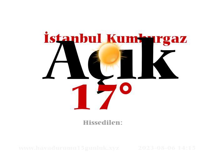 istanbul-kumburgaz hava durumu