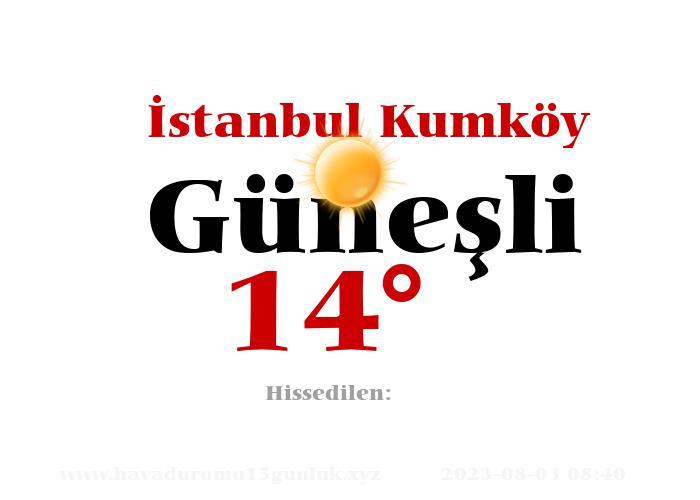 istanbul-kumkoy hava durumu