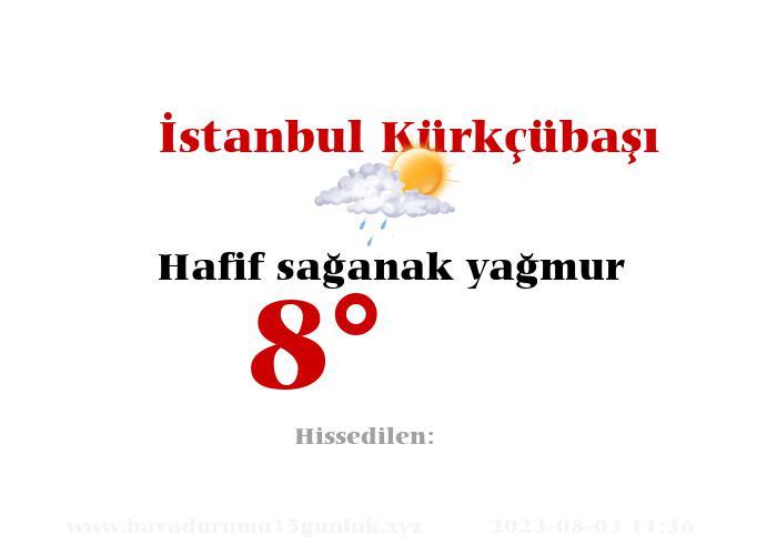 İstanbul Kürkçübaşı Hava Durumu