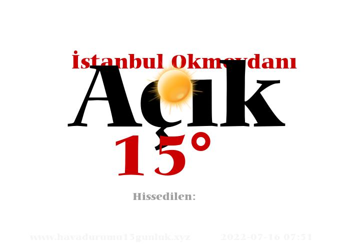 istanbul-okmeydani hava durumu