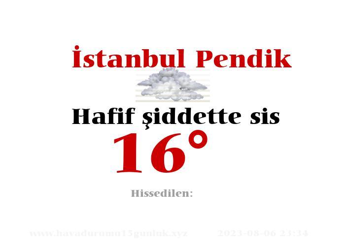 istanbul-pendik hava durumu