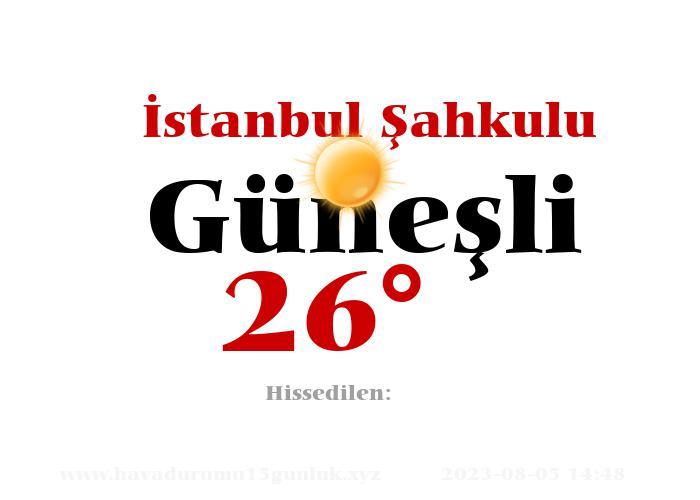 istanbul-sahkulu hava durumu