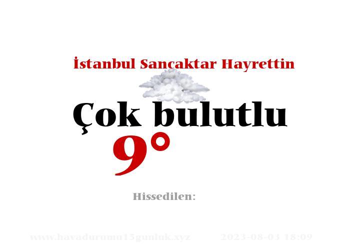 İstanbul Sancaktar Hayrettin Hava Durumu