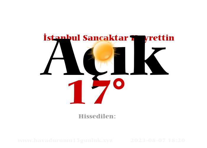 istanbul-sancaktar-hayrettin hava durumu