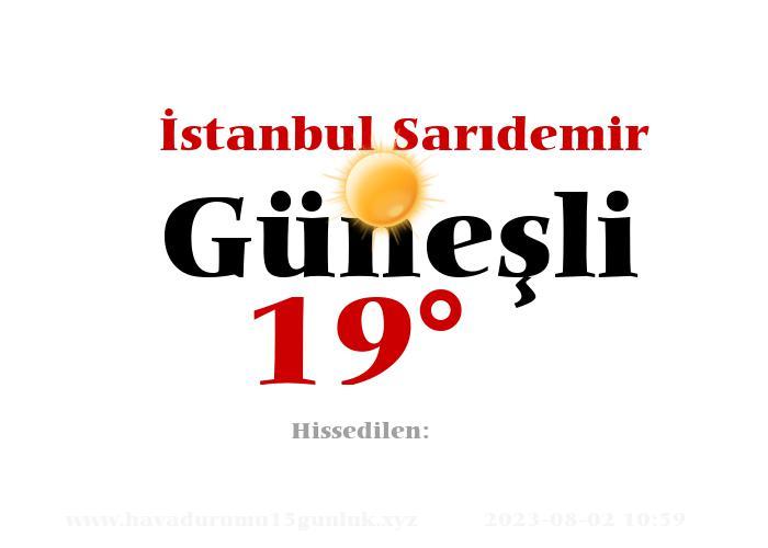 istanbul-saridemir hava durumu