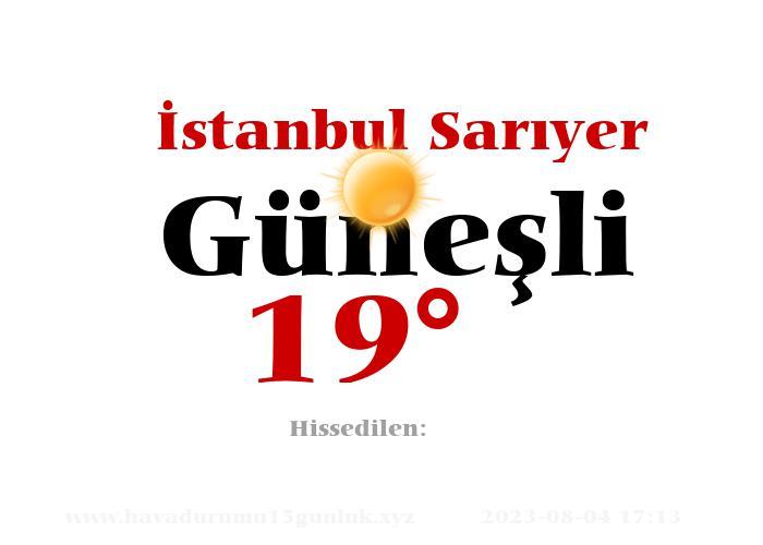 istanbul-sariyer hava durumu