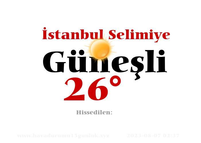 istanbul-selimiye hava durumu