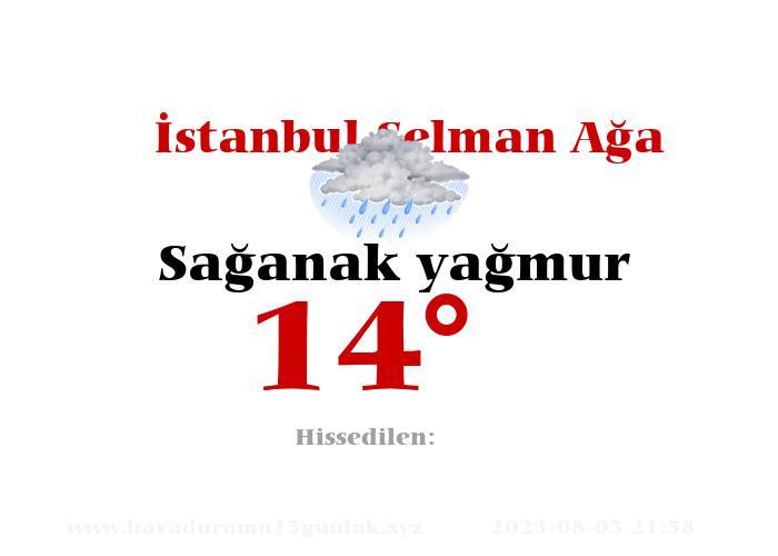İstanbul Selman Ağa Hava Durumu