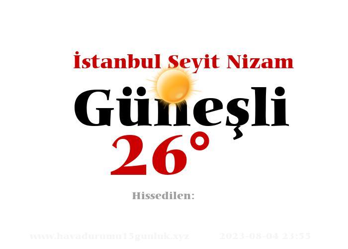 istanbul-seyit-nizam hava durumu