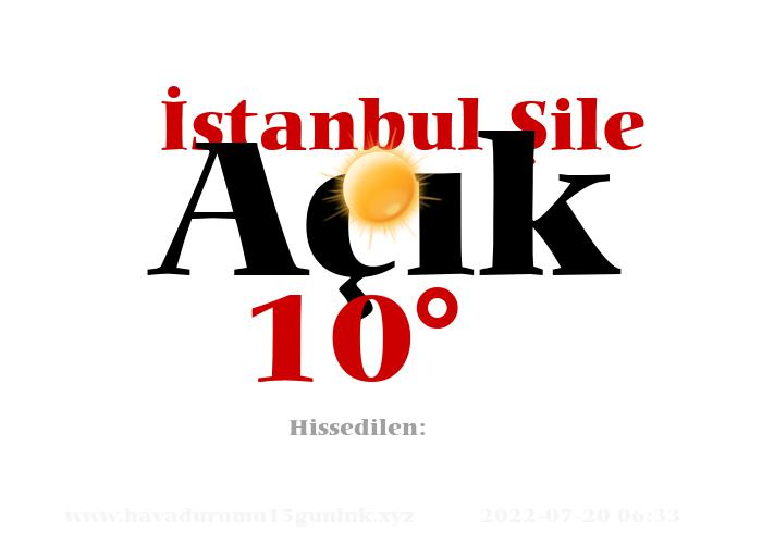 istanbul-sile hava durumu