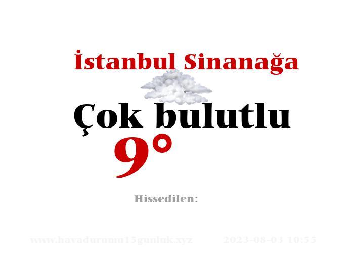 İstanbul Sinanağa Hava Durumu