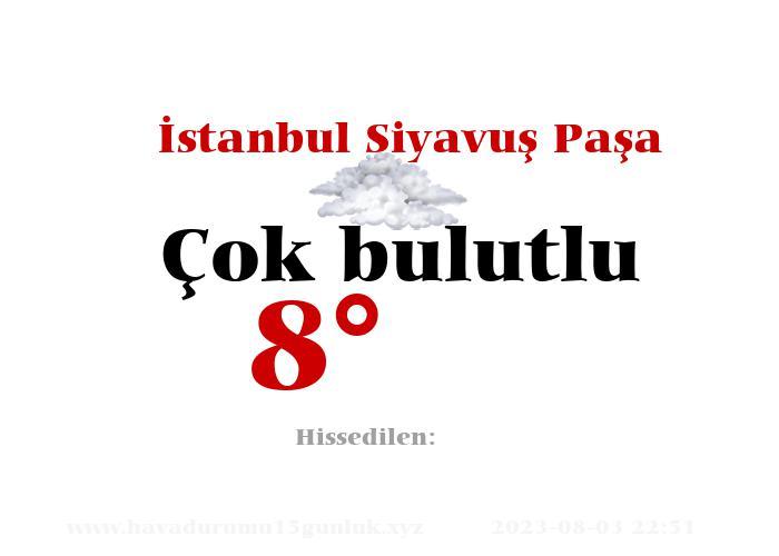 İstanbul Siyavuş Paşa Hava Durumu