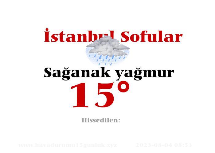İstanbul Sofular Hava Durumu