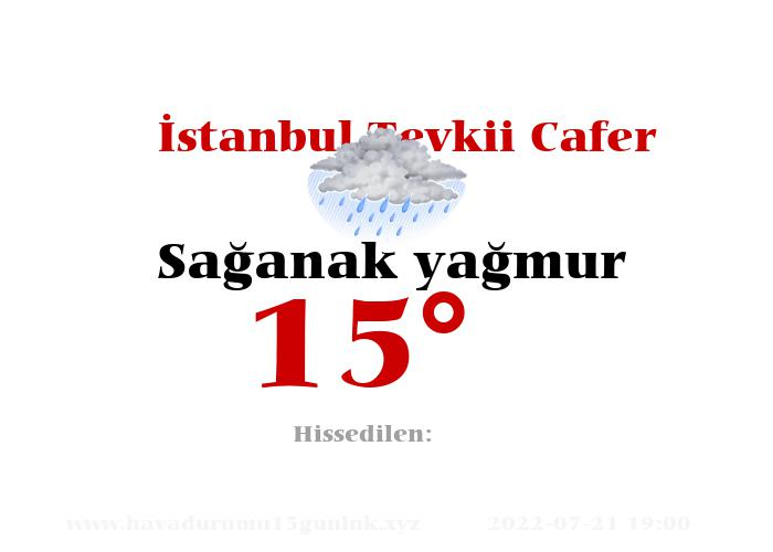 İstanbul Tevkii Cafer Hava Durumu