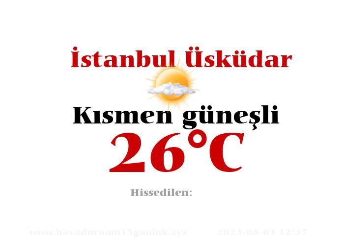 Hava Durumu İstanbul Üsküdar
