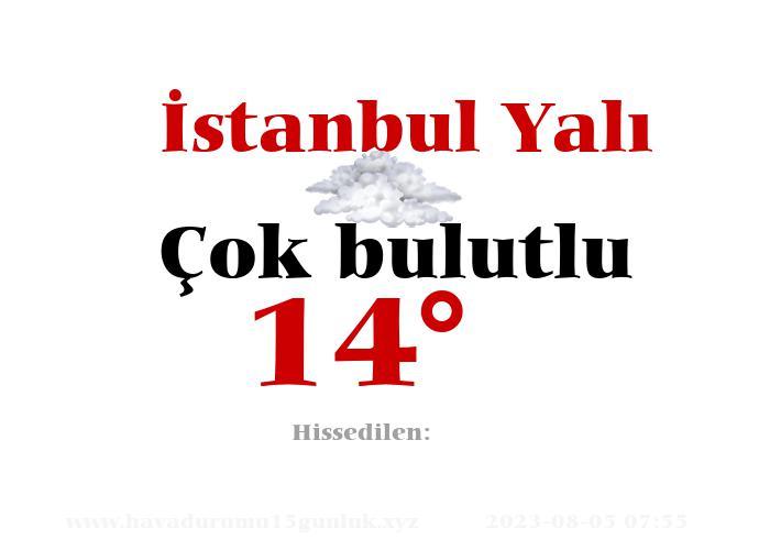 İstanbul Yalı Hava Durumu